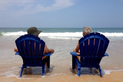 Blue Chairs on the Beach