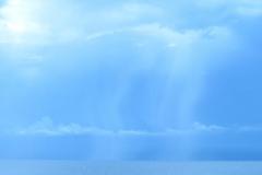 Blue Rain over Beach 1 - Vertical