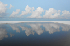 White Clouds Reflect in Blue Waters 1