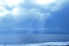 Blue Rain over Beach 2