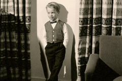 Young Boy Poses in Bowtie