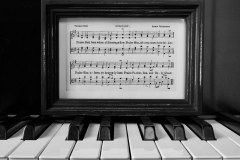 Doxology on Piano Keys - Black n White