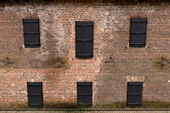Old Mill House Building Boarded Windows