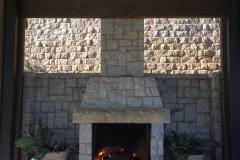 Stone Pavilion Fire Place