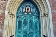 Arched Church Door Green