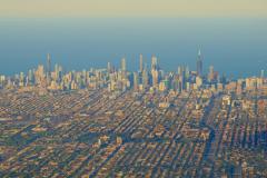 Chicago Skyline From Plane