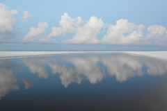 White Clouds Reflect on Blue Waters 1
