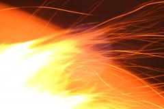 Solar Flare Fire