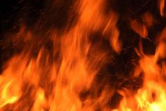 Blazing Fire - Vertical