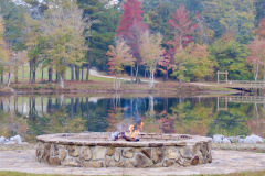 Fall Reflection with Firepit