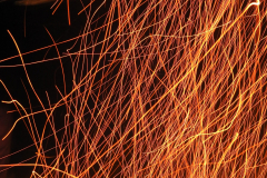 Fire Sparks Right - Vertical