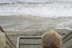 Boy Looks Over the Outer Banks Ocean