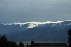 Clouds Roll over Montana Mountains 2