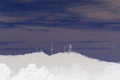 Sawnee Mountain Towers at Sunset - Negative