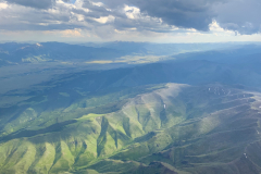 Montana Mountains and Sky From Above