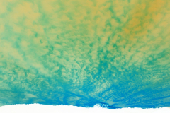 Painted Orange n Blue Sky - Negative
