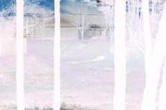 Blue Church Steeple Reflection - Negative