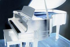 Baby Grand Piano - Negative