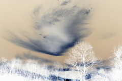 Swirling Cloud at Sunset - Negative