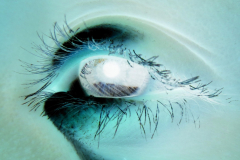 Girl Eye Close-up - Negative
