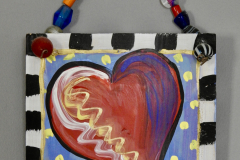 Painted Heart Art Sign