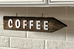 Wooden Coffee Sign