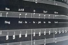 Sing Hallelujah Music Sheet - Negative