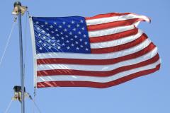 USA Flag Waves