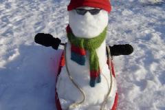 Cool Snowman Sled