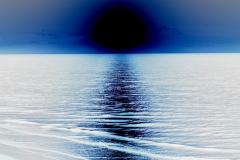 Golden Ocean Sunrise - Negative