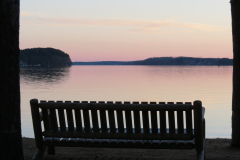 Bench on the Lake at Sunset