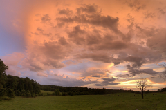 Glowing Clouds over the Pasture