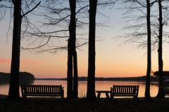 Lakeside Seating at Sunset 2
