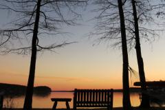 Lakeside Seating at Sunset