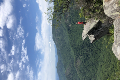 Man on Pickens Nose Rock