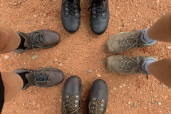 Family Feet with Hiking Boots