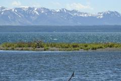 Yellowstone Lake with Mountains