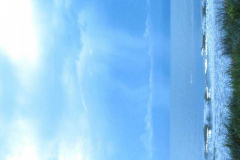 Blue Rain over Beach 1