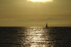 Golden Sunset Sailboat