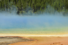Yellowstone Grand Prismatic Spring Colors Mist 2