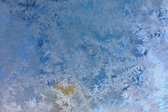 White Frost on Blue
